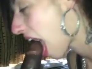 White girl worshipping big black cock