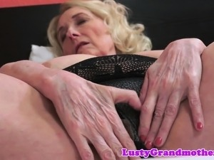 Fat granny spreads her legs for young cock