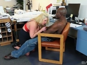Big breasted boss Zoey Andrews is getting drilled by one BBC
