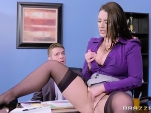 Angela white big tits at work