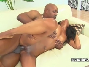 Black MILF Nina Foxx takes some dick in her ebony pussy
