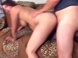 Pregnant chick loves having husband's hard dick inside pussy