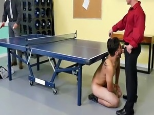 Gay porn jail group movie CPR chisel blowing and bare ping pong