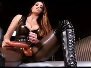 Alison Tyler In Hot Black Latex With Huge Strapon Gives JOI