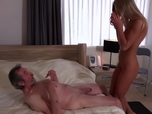 Old Man Fucked Young Blonde Teen Blowjob Pussy Licking