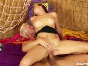 Red haired stunning nympho with big titties loves classic mish sex