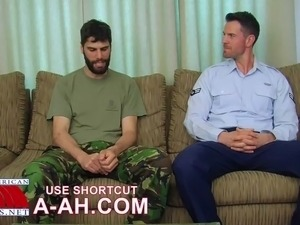 British soldier gets ass-pounding by US soldier