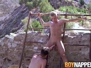 Slave Chris Jansen gets doggy styled by master Charley