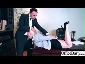 (Nikki Delano) Big Tits Horny Office Girl Get Nailed Hardcore vid-18