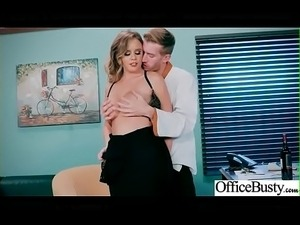 (Alexis Adams) Big Tits Horny Office Girl Get Nailed Hardcore vid-01