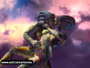 Bizarre fantasy with aliens