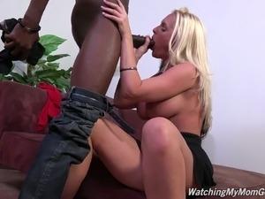 Kinky dude enjoys watching how BBC fucks perverted stepmom
