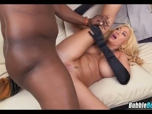Big Ass Blonde MILF gets BBC
