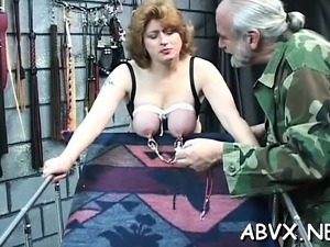 Big boobs hotties extraordinary bondage porn play