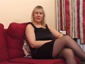 Big Tits Mature UK Blonde Does Anal