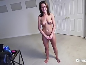 Rahyndee James sucks cock and swallows cum POV
