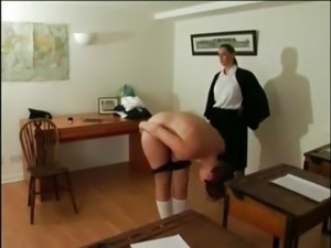 private girls school first caning