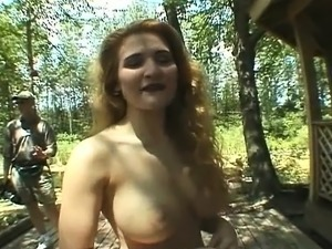 Jap big boobs massaged outdoor