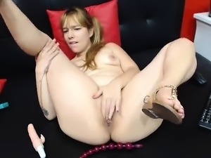 Skinny Blonde Teen Anal amp Vaginal Toys DP