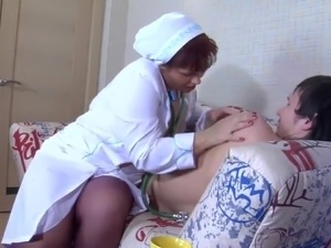 Mature nurse seducing guy