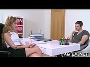 Sexy female agent shares sex knowledge