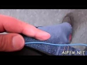 Moist cum-hole of female agent is rammed