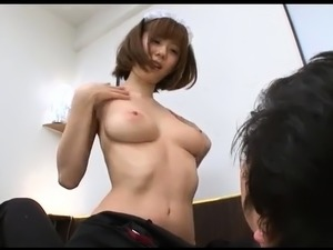 Provoking Japanese babe knows exactly how to treat a cock