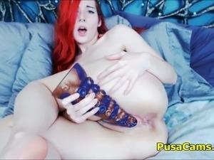 Redhead Wizard Girl Fucking Alien Toys
