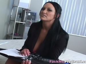 Busty babes taking care of fat dick