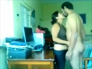 Adorable Indian wife gets drilled by her lover on the desk