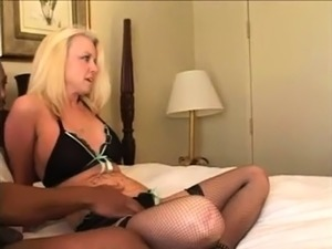 Big cock loving amateur blonde rides dick anally