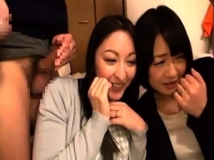 Cute Asian babes indulge in wild group sex with horny boys