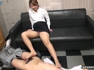 Beautiful office nympho from Japan Yuria Takeda gets poked at work