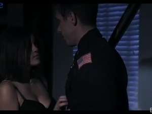 Frightened Asian-American babe Kendra Spade gets calmed by cop's dick
