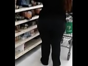 Thick White BBW walking and bending over