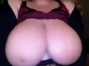 mature lady play with huge white boobs bbw on webcam
