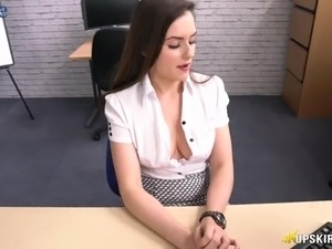 Some good upskirt video under the table is shot with Charlie Rose