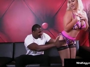 Hot Nympho Nina Kayy Is Mega Buttfucked By A Big Black Cock!