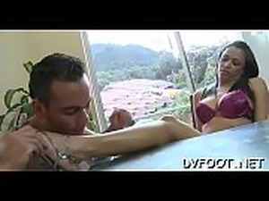 Hot foot fetisj play with playgirl fingering while feet licked