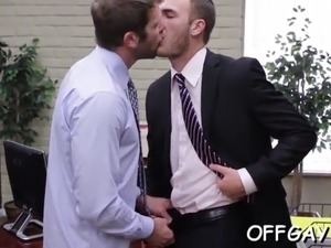 hot office gay threesome