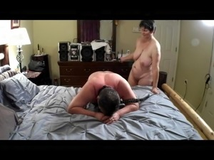 Mistress Joyce coming home after young BBC date