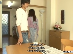 After such a sensual cunnilingus lovely hottie Mirei Yokoyama gives good head