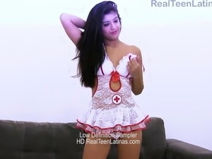 June model in her nude casting preview