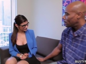Busty arab Mia Khalifa loves interracial sex with a BBC