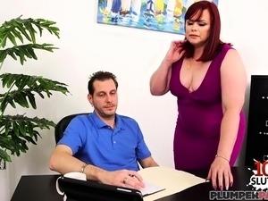 Redhead pornstar doggystyle and cumshot