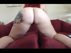 Pawg fucking her dildo and some dude.
