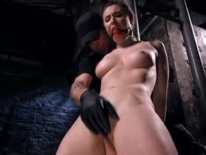 Caucasian big breasted hottie Casey Calvert gets tied up and teased in hard way