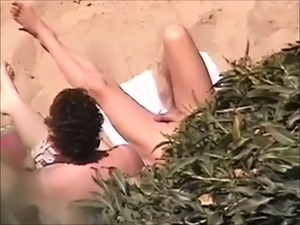 Blowjob on public beach