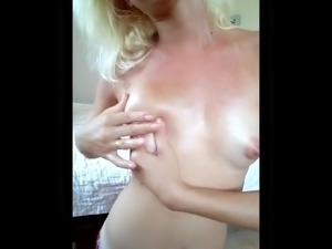 m i 5 5 a n j a - perky, oily tits and nipple playing