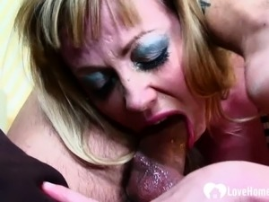 Busty babe gets her tight asshole plundered